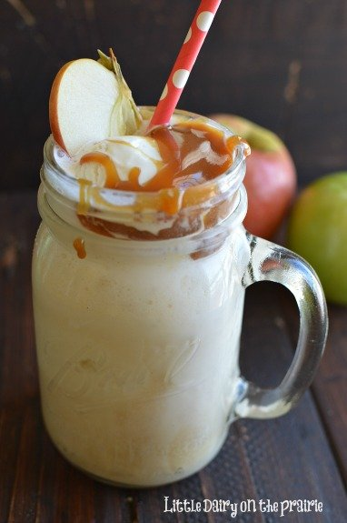 Salted Caramel Apple Cider Floats!  Little Dairy on the Prairie