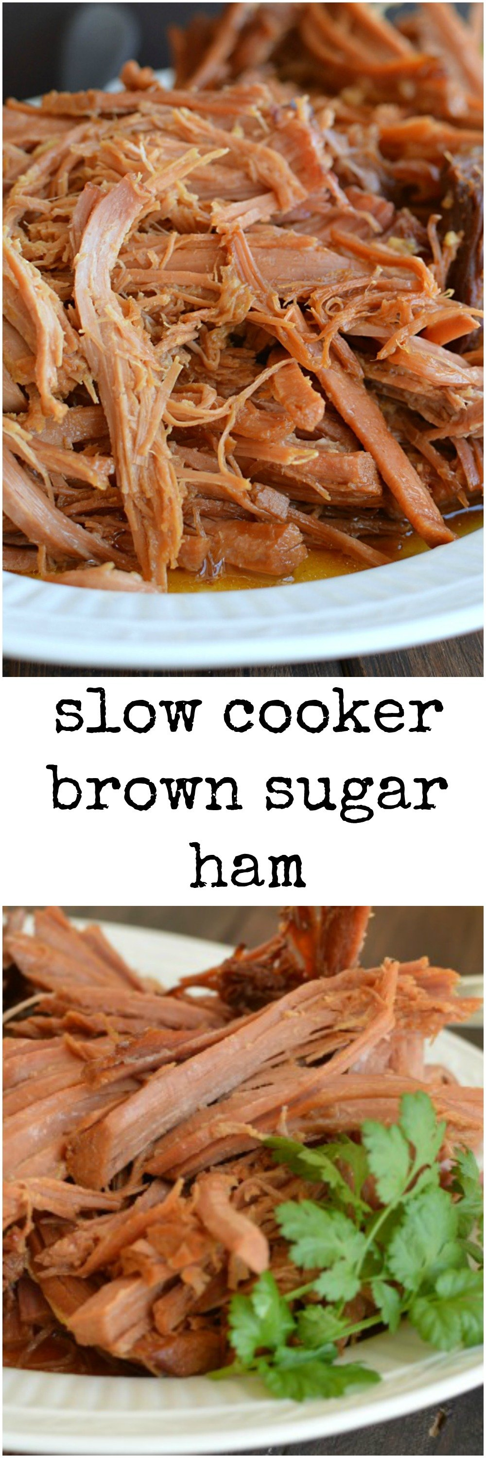 Christmas Ham Recipes.Slow Cooker Brown Sugar Ham