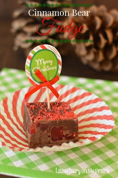 This fudge is sure to satisfy my chocolate covered cinnamon bear addiction! - Little Dairy on the Prairie