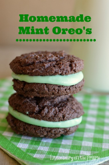 You will be surprised at how simple it is to make Homemade Mint Oreo's! I can't get over how delicious they are!  Little Dairy the Prairie