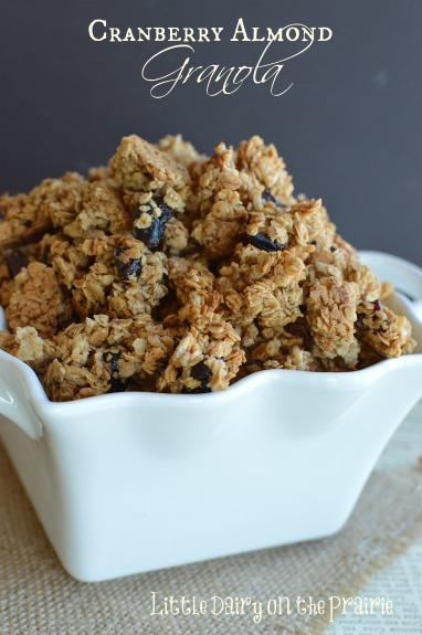 Cranberry Almond Granola!  Little Dairy on the Prairie