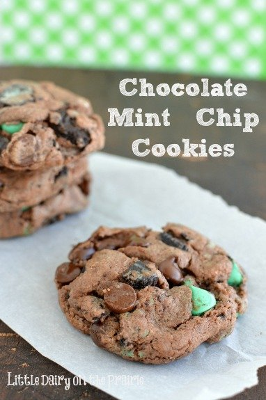 An explosion of mint all wrapped up in a melt in your mouth chocolate cookie! You've gotta try these!  Little Dairy on the Prairie