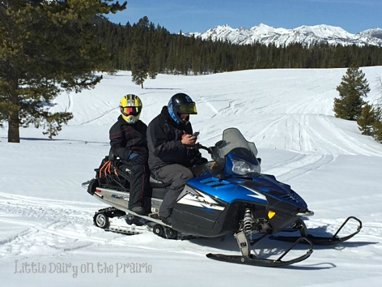 Justin and Branson Snowmobiling