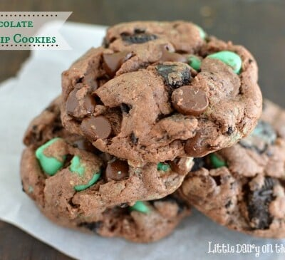 My new favorite cookie! Who could ever resist chocolate and mint together
