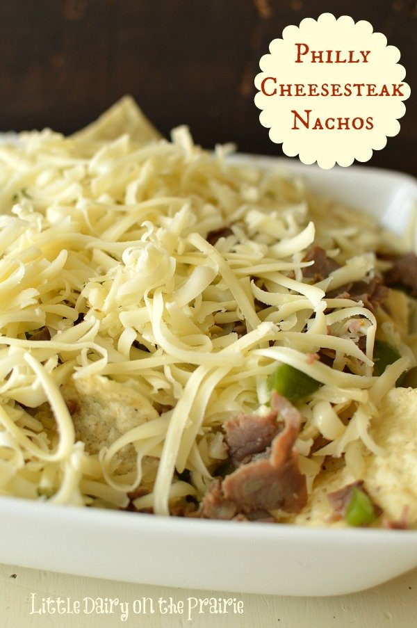 Oh my goodness! My fingers are ready to dig in to these Philly Cheesesteak Nachos!  Little Dairy on the Prairie