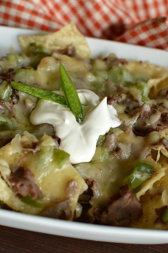 Yummy Philly Cheesesteak Nachos! I'm loving a new spin on a classic favorite! Little Dairy on the Prairie