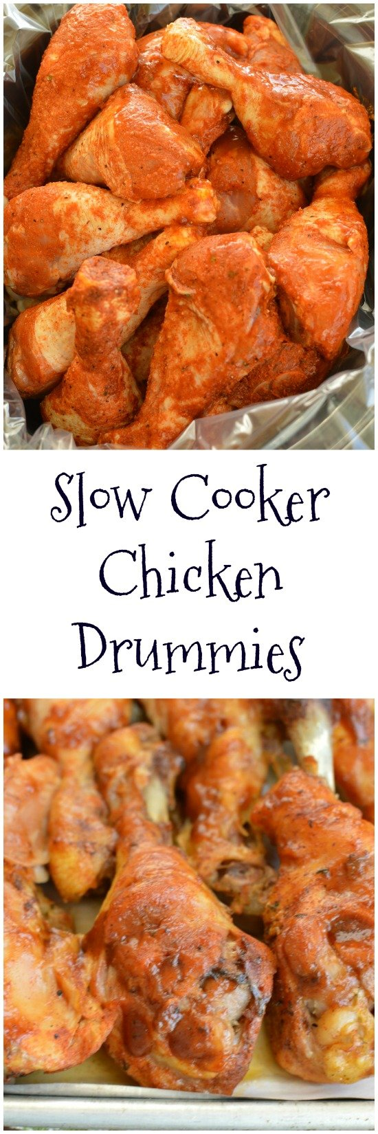 Grab a napkin! Slow Cooker Drummies are fall off the bone tender and explode with flavor! It's nice that they are easy and inexpensive too! Little Dairy on the Prairie