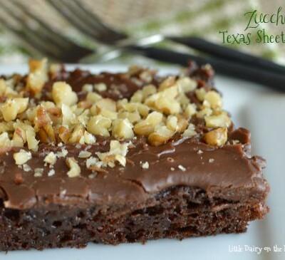 My favorite chocolate zucchini cake...EVER!  Little Dairy on the Prairie