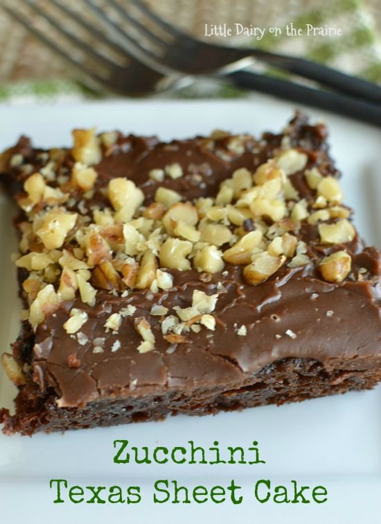 No contest, Zucchini Texas Sheet Cake is the best way use up your zucchini! Little Dairy on the Prairie