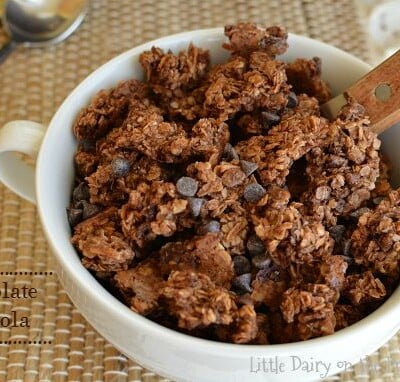 Chocolate Granola is a sure fire way to get kids out of the bed in the morning!