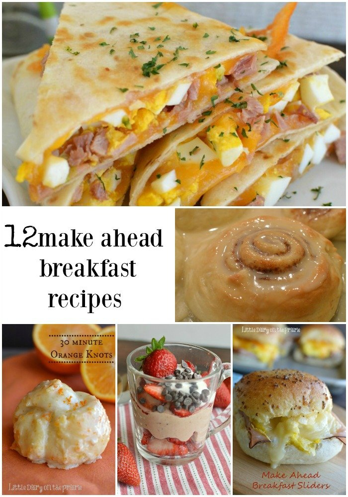 Make ahead breakfast recipes for busy week days, lazy weekends, or for impressing guests! Little Dairy on the Prairie