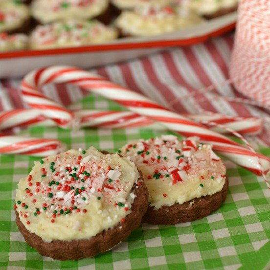 Peppermint Bark Sugar Cookies!!!