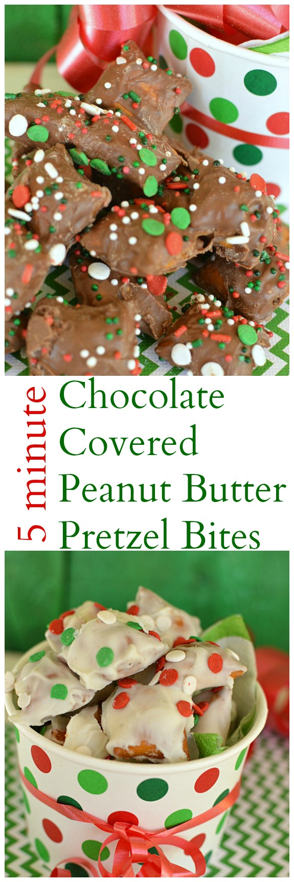 All it takes is 5 minutes and 2 ingredients (plus sprinkles) to make a batch of these festive holiday treats! Kids love to help with this recipe too! Little Dairy on the Prairie