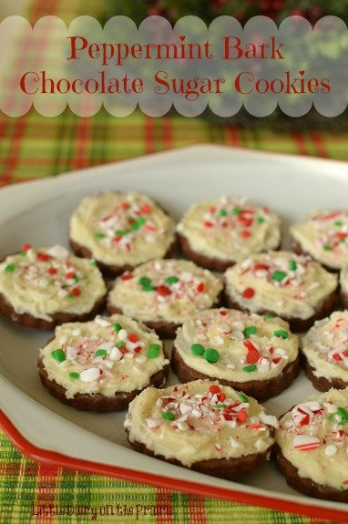 If you love peppermint bark you will fall in love with these cookies!