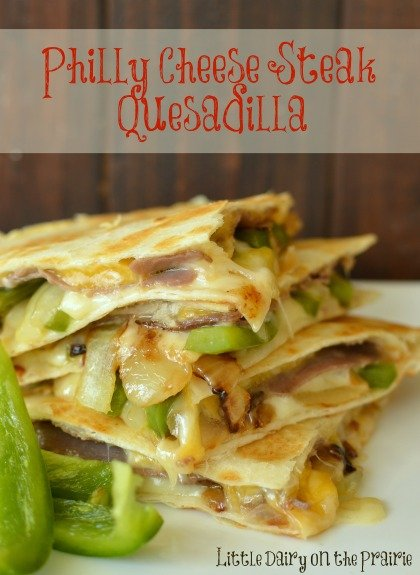 Philly Cheese Steak lovers will go crazy over this quesadilla!