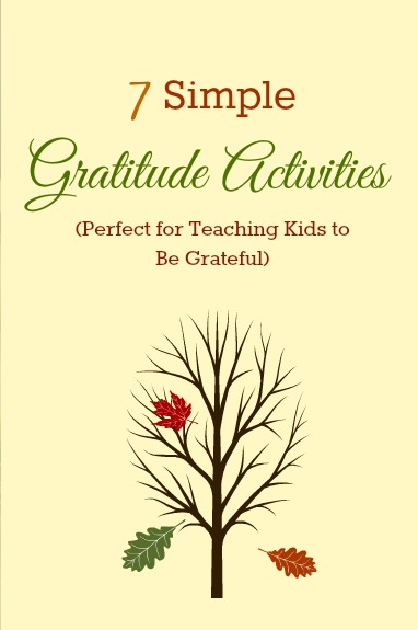 Thanksgiving Day Kids Activities! Help your kids realize how much they have to be grateful for!