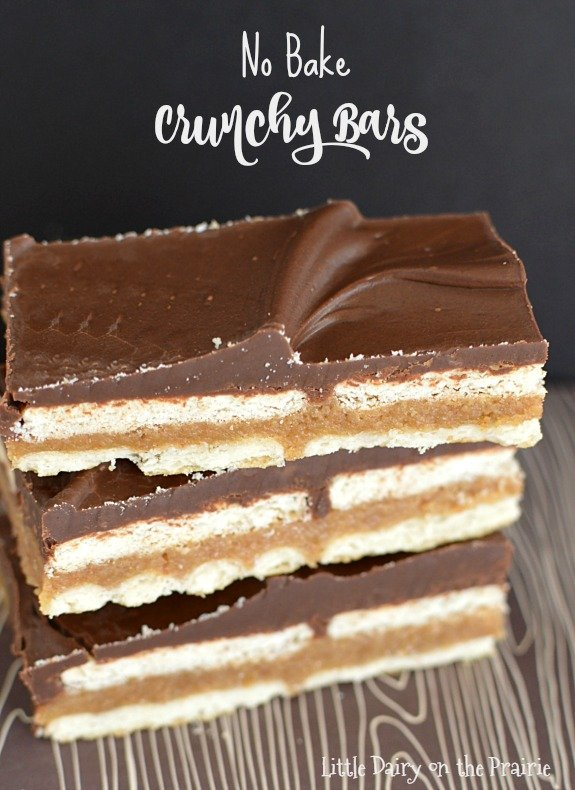 No bake, chocolaty, and salty! No Bake Crunchy Bars (aka homemade kitkat bars) are everything you need in one bite! Little Dairy on the Prairie