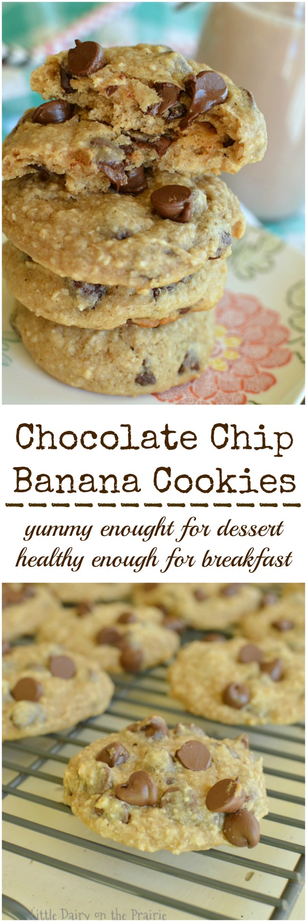 Healthy Chocolate Chip Banana Cookies - Little Dairy On the Prairie