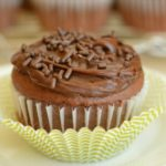 Triple Chocolate Cupcakes with Fudge Chocolate Filling