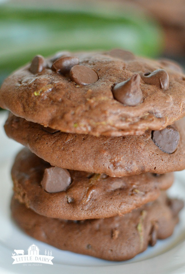 Chocolate Zucchini Cookies-3