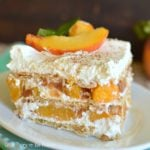 No-Bake Icebox Cake with Peach Pie Filling