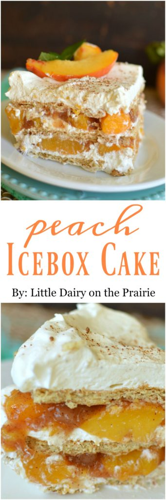 No Bake Peach Ice Box Cake is a scrumptious, quick and easy summerfall dessert!