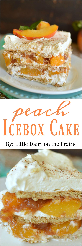 Ice Cream Cake Peaches