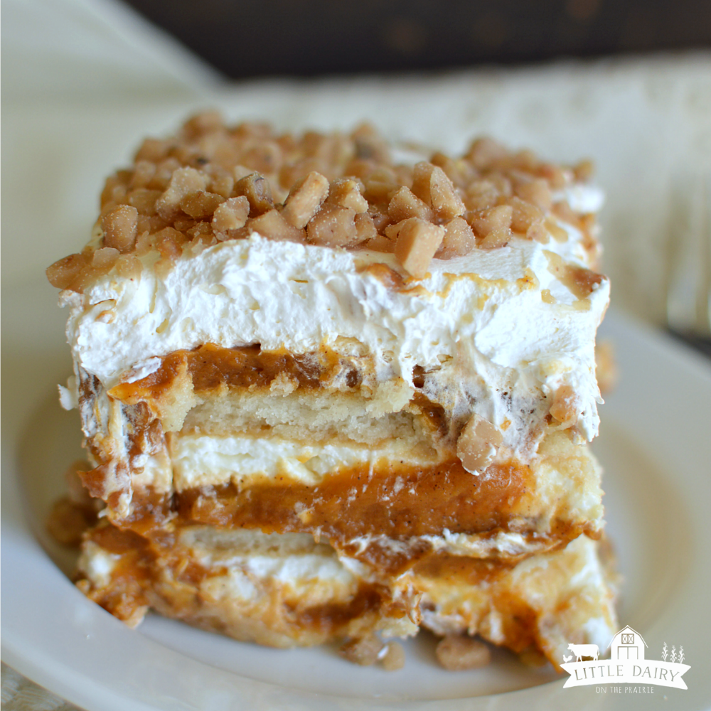 no bake pumpkin toffee icebox cake-5