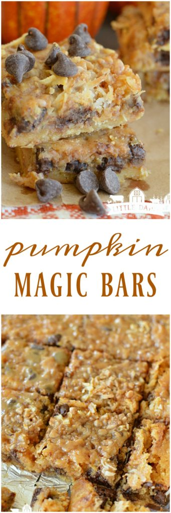 Pumpkin Magic Bars are ooey and gooey, and magically simple and delicious!