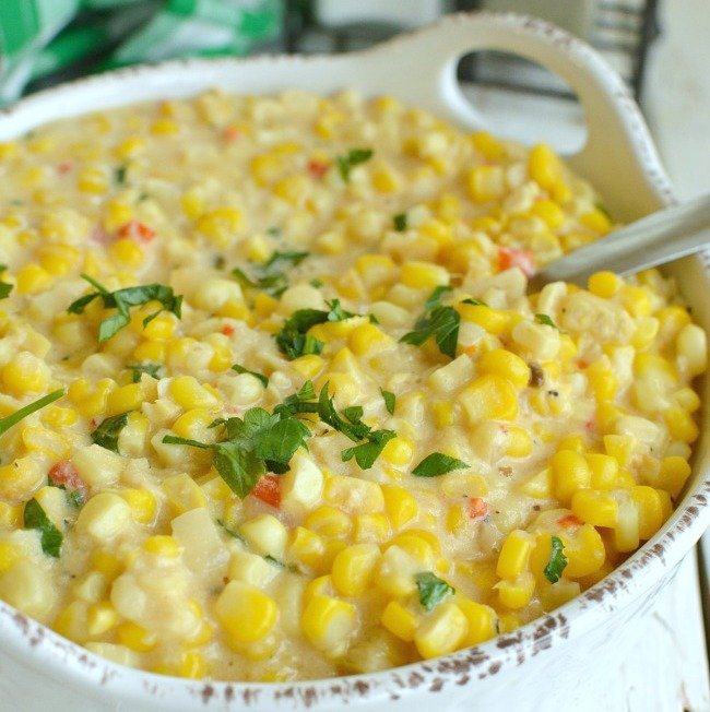 Side Dish: Slow Cooker Cheesy Creamed Corn