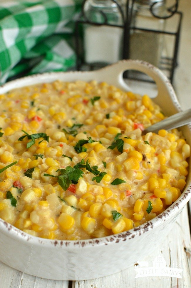 Slow Cooker Cheesy Creamed Corn 3