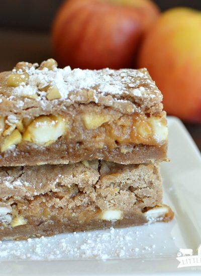 Caramel Apple Blondies (Easy)