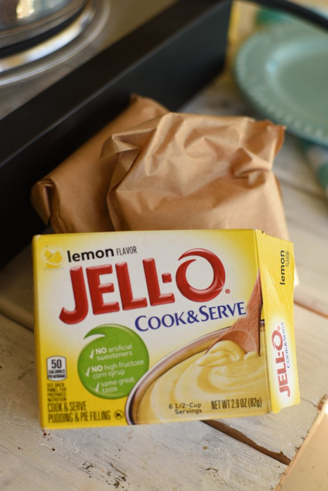 Lemon Fudge- cook and serve lemon pudding