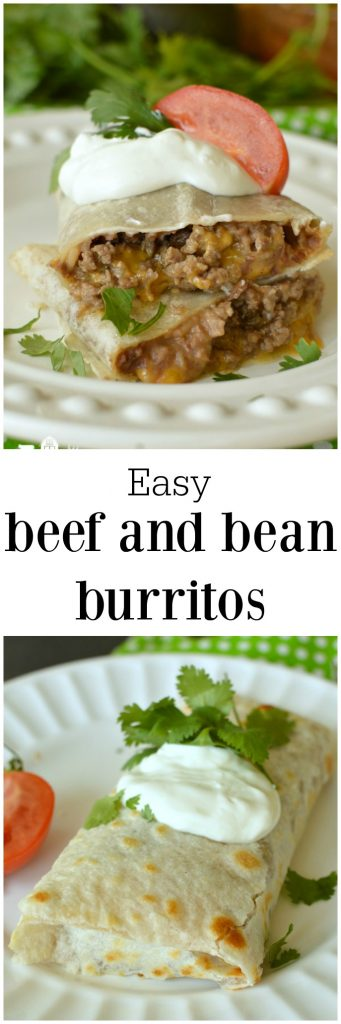 Easy Beef and Bean Burrito's Recipe