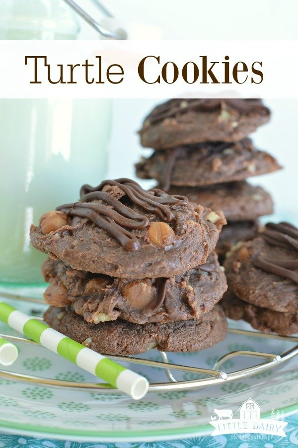 Gooey Turtle Cookies