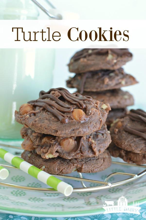 Gooey Turtle Cookies