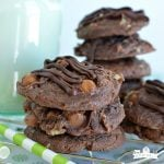 Fudgy Turtle Cookies (Chocolate Overload)