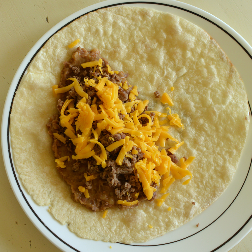 beef and bean burrito 15 minutes