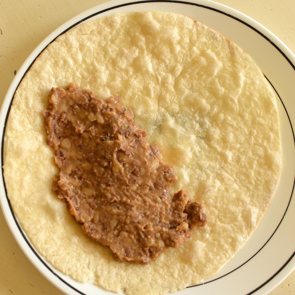 easy beef and bean burrito