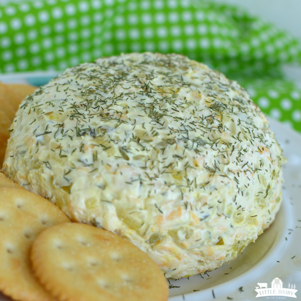 Dill Pickle Cheeseball - a pickle lovers dream