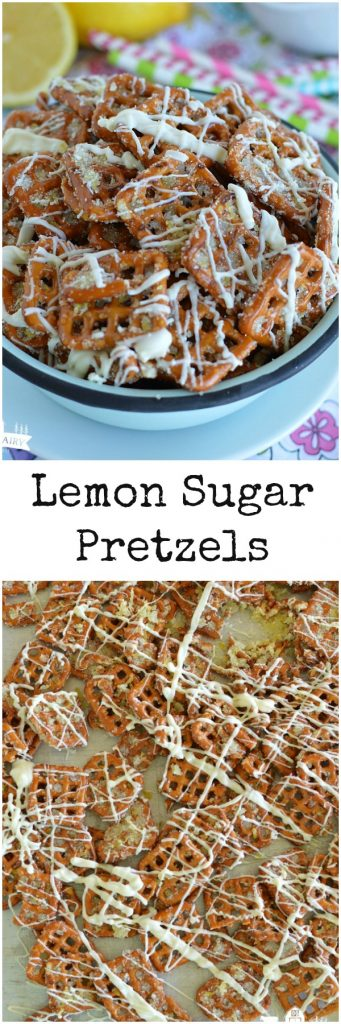 Lemon Sugar Pretzels - a salty sweet treat that you are never going to be able to walk away from! An easy microwaveable recipe!