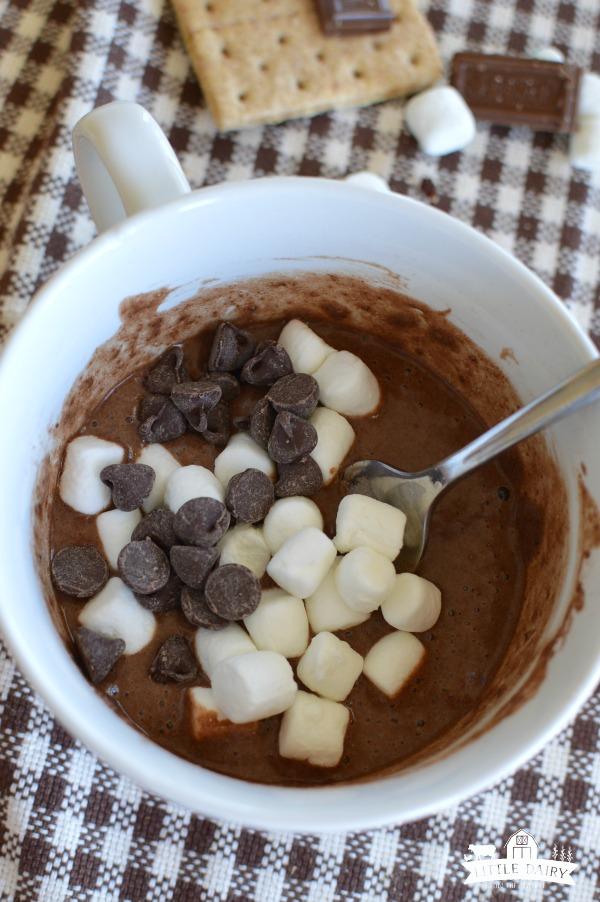 S'mores Chocolate Mug Cake - decadent dessert