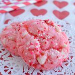 The BEST Strawberry Cheesecake Cookies {made with a cake mix}