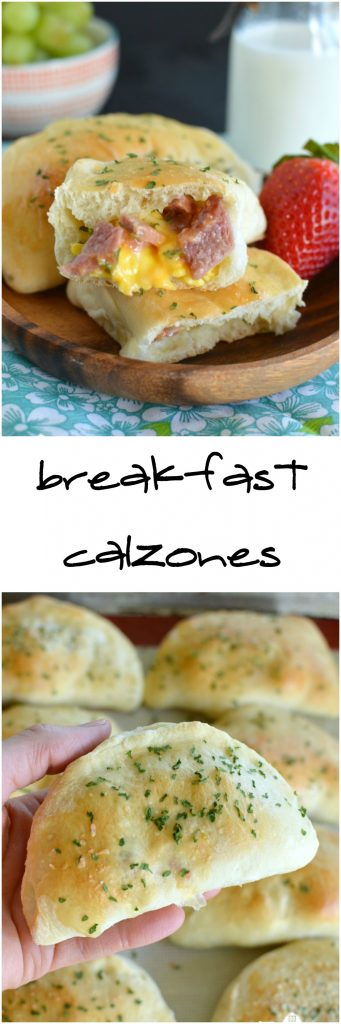 Breakfast Calzones are a hearty on the go breakfast! Make ahead and freeze for later!