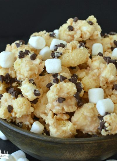 Peanut Butter Popcorn {Microwavable}