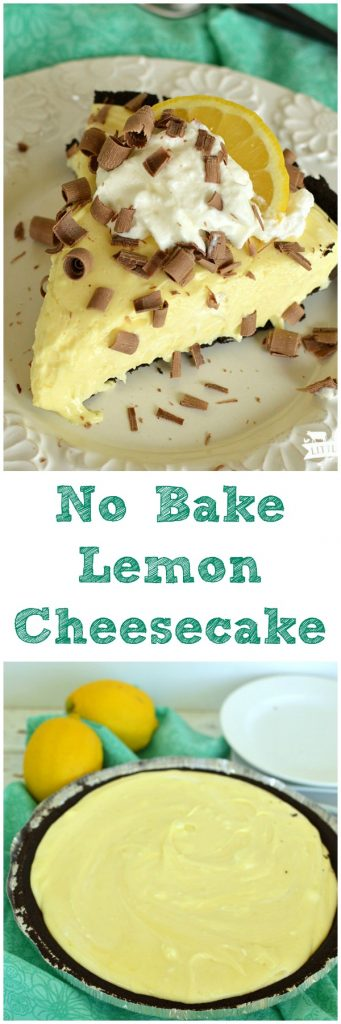 Easy No Bake Lemon Cheesecake recipe only takes a few ingredients and few minutes!