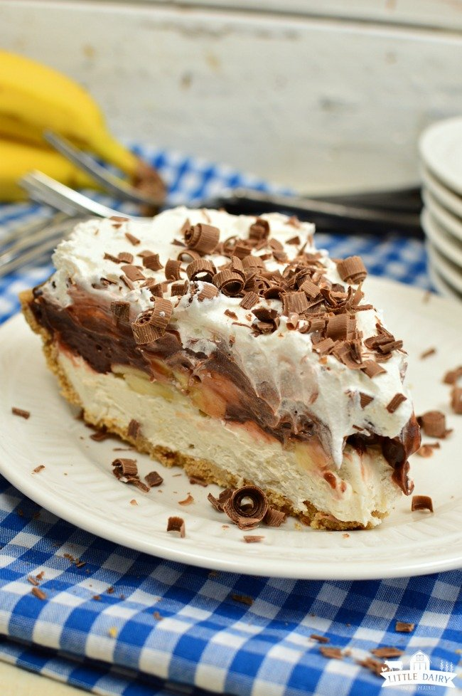 Chocolate Banana Cream Pie No Bake