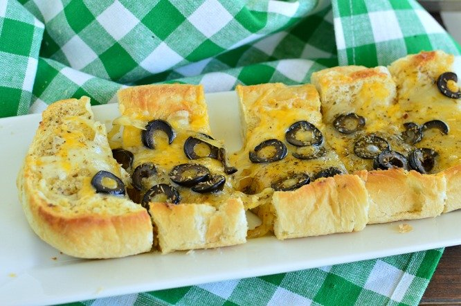 Cheesy Mexican Bread is awesome served with soup, salad, or dipping in salsa