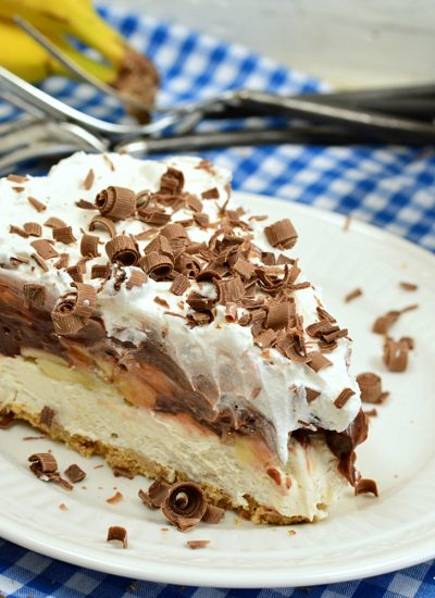 No Bake Chocolate Banana Cream Pie