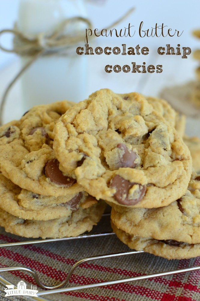 peanut butter chocolate chip cookies and easy dessert